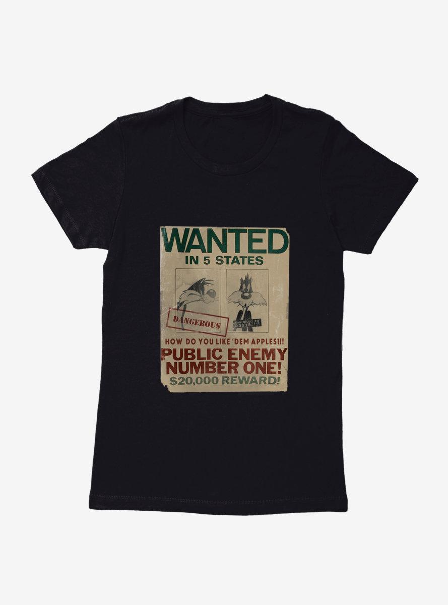 Looney Tunes Sylvester Public Enemy Womens T-Shirt