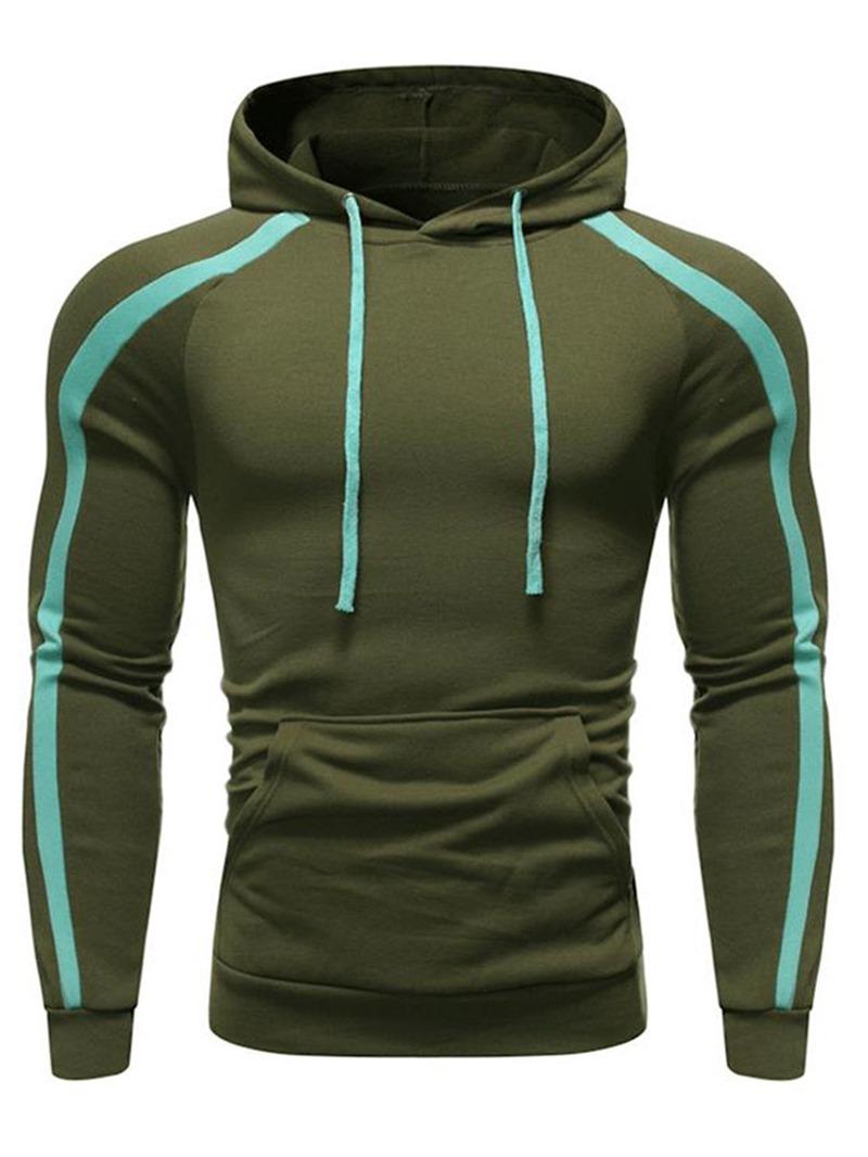 Ericdress Color Block Patchwork Pullover Men's Hoodies