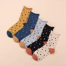 5pairs Polka Dot Socks