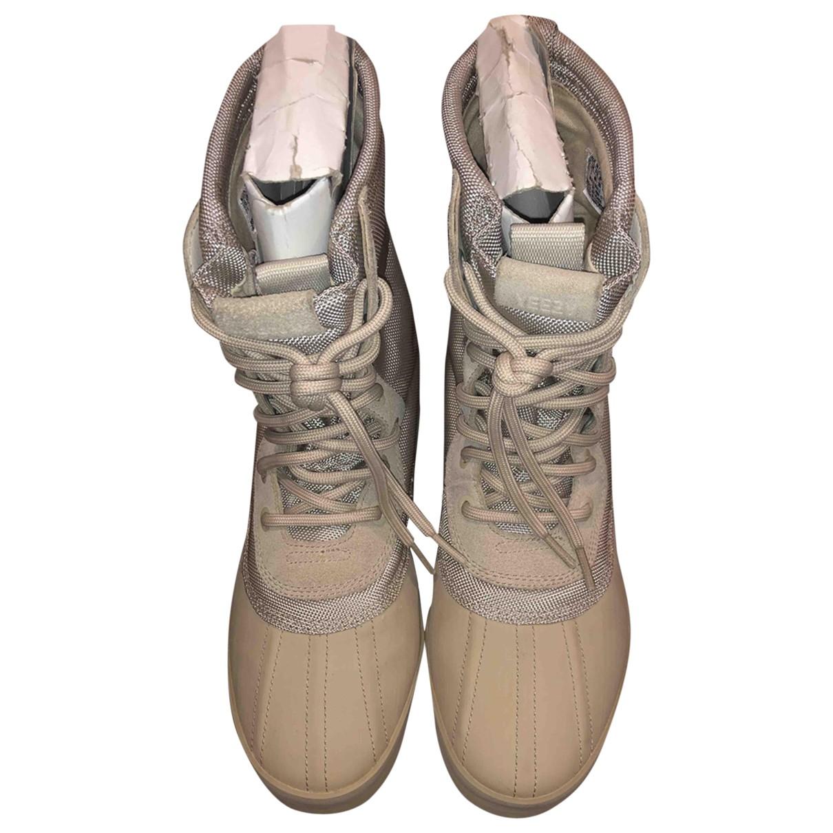 Yeezy X Adidas \N Stiefel in  Beige Kautschuk
