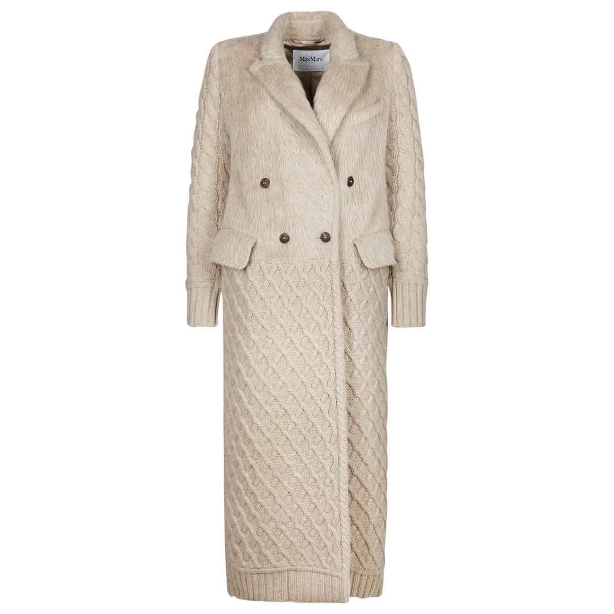 Max Mara \N Beige Wool coat for Women 8 UK