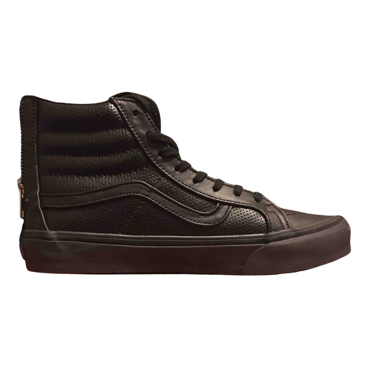 Vans - Baskets   pour homme en cuir - noir
