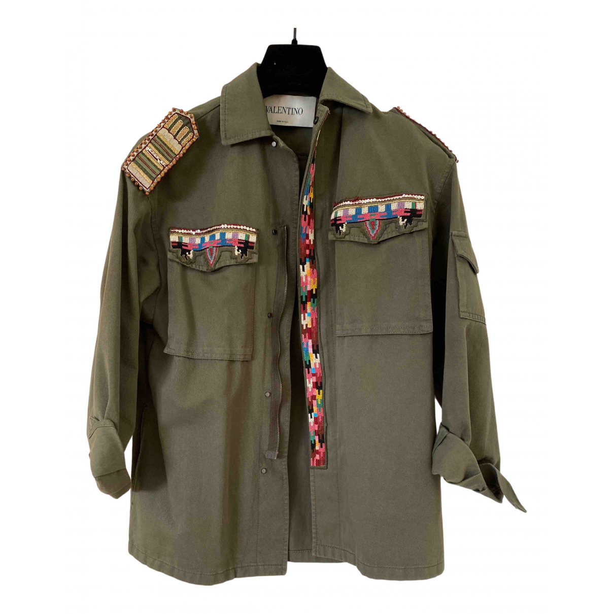Valentino Garavani N Green Cotton jacket for Women 38 IT