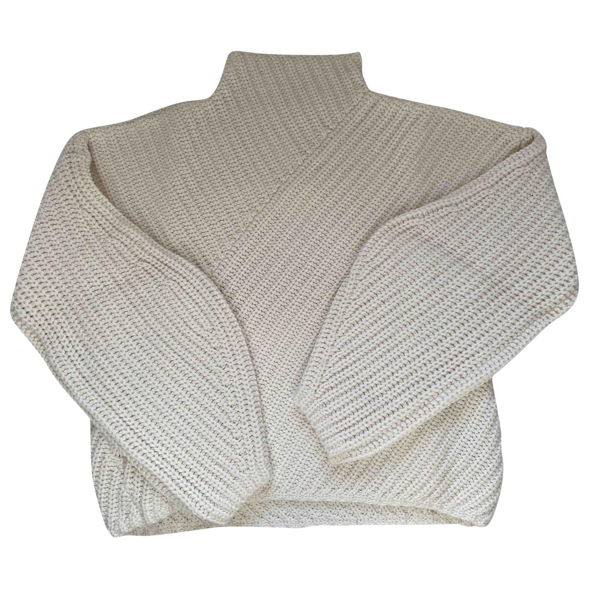 & Other Stories - Pull   pour femme en laine - ecru