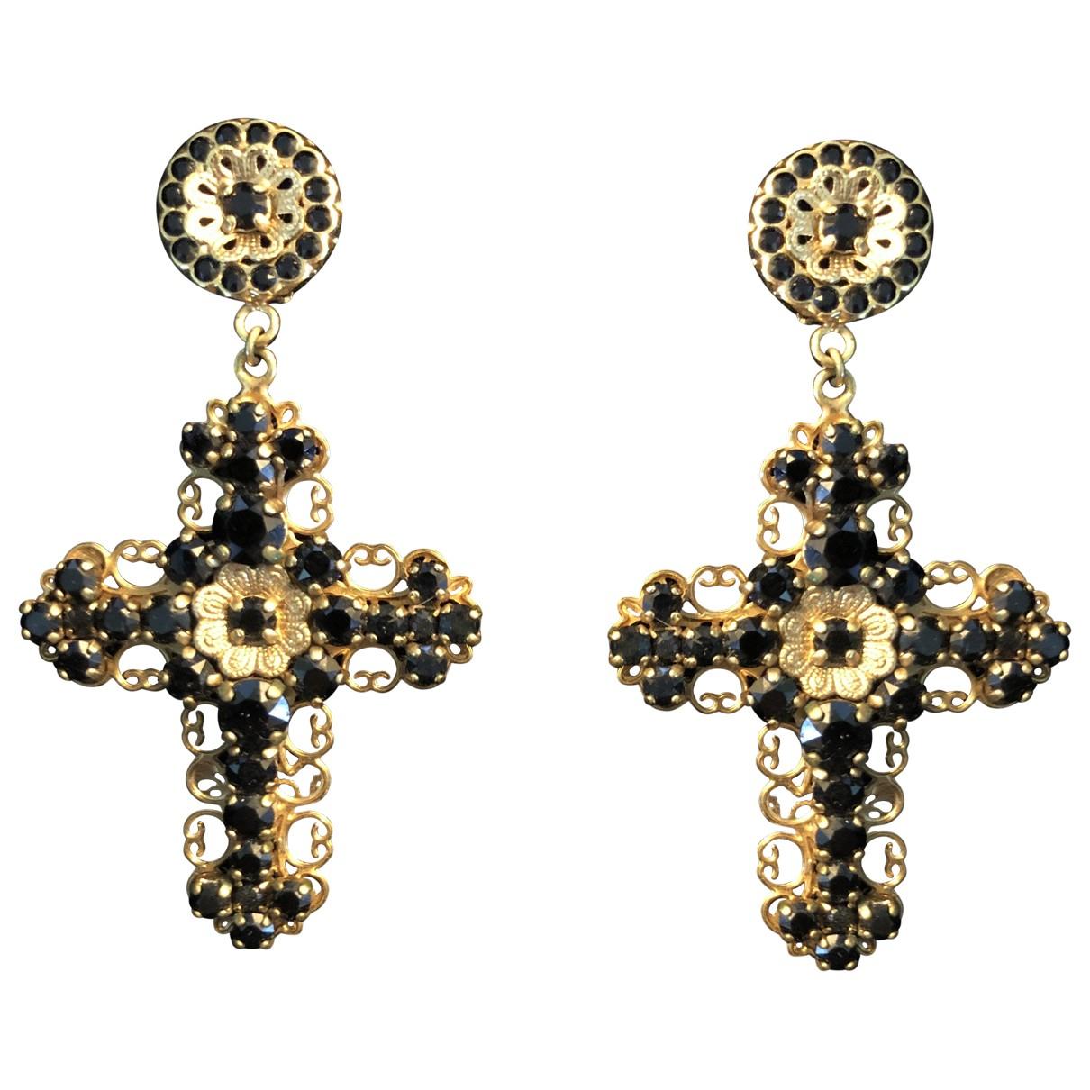 Dolce & Gabbana - Boucles doreilles   pour femme en metal - dore