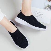 Wide Fit Slip On Sneakers