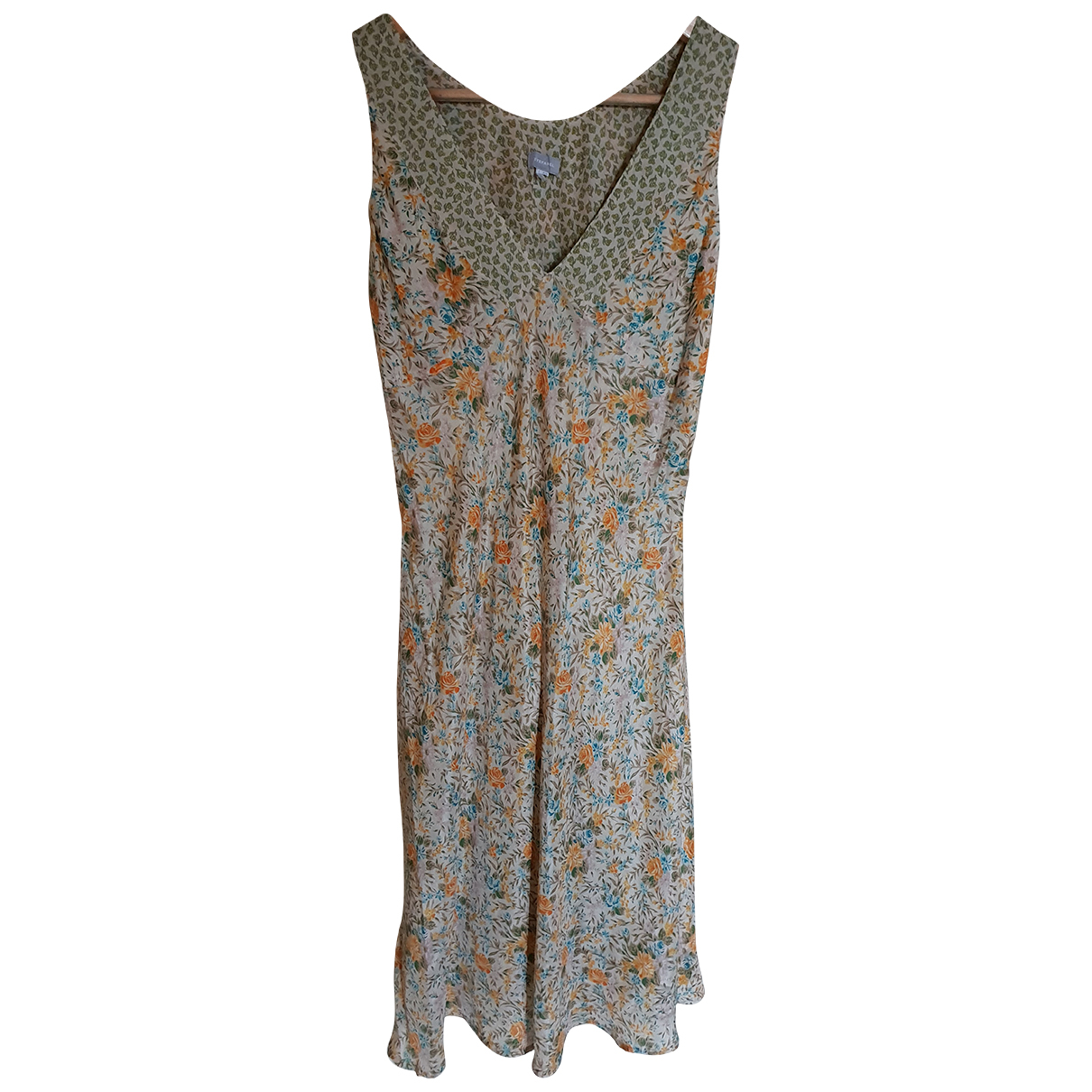 Stefanel - Robe   pour femme en soie - multicolore
