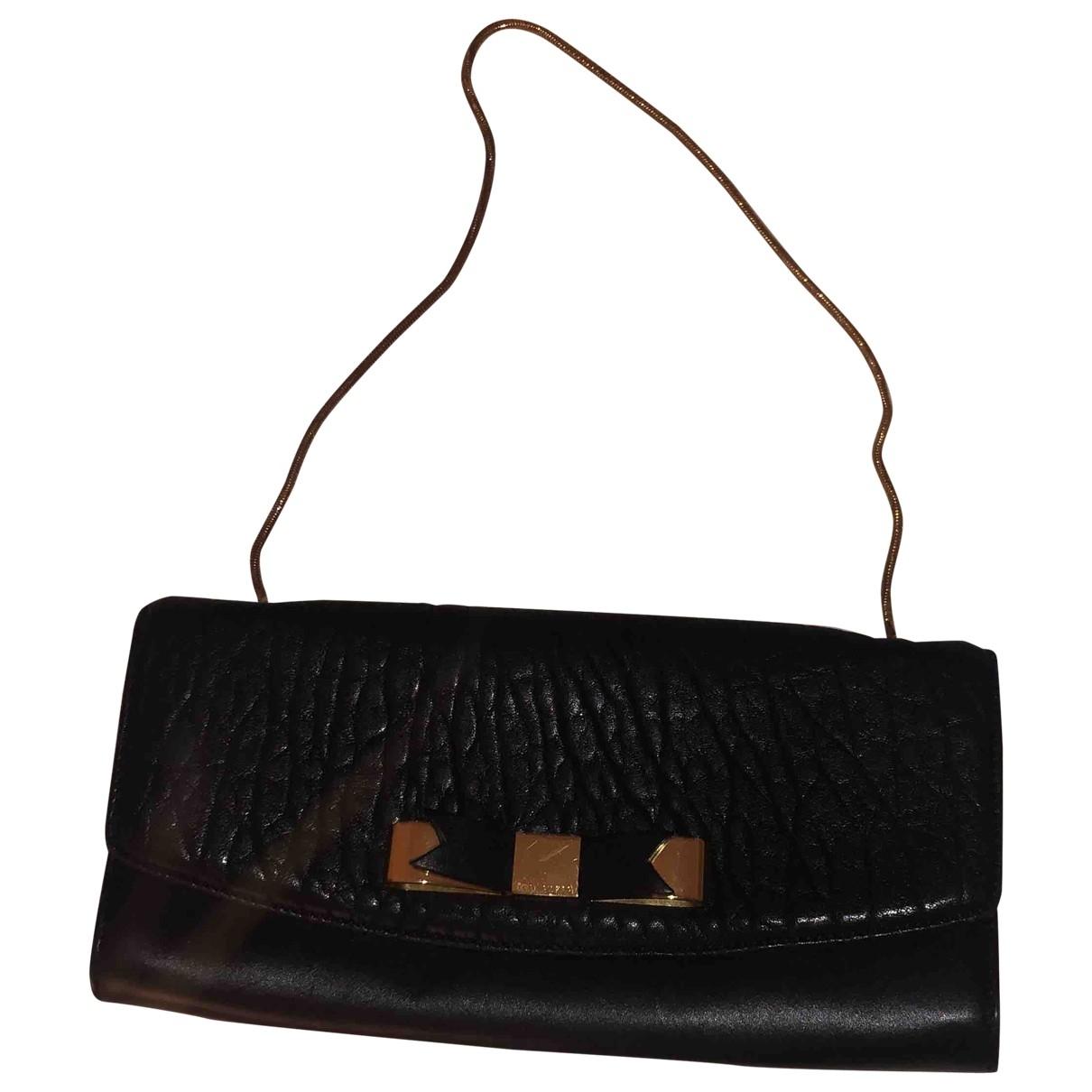 Ted Baker - Pochette   pour femme en cuir - noir