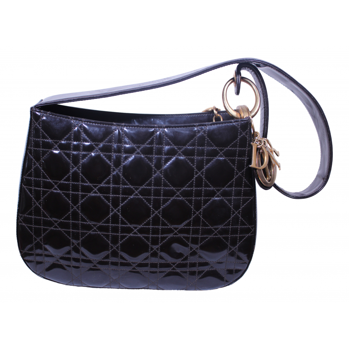 Dior Lady Dior Brown Patent leather handbag for Women \N
