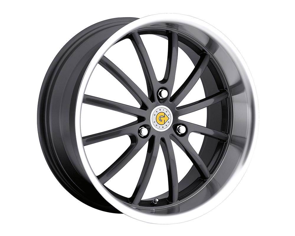 Genius Darwin Wheel 15x5.5 3x112 25mm Gunmetal w/Mirror Cut Lip