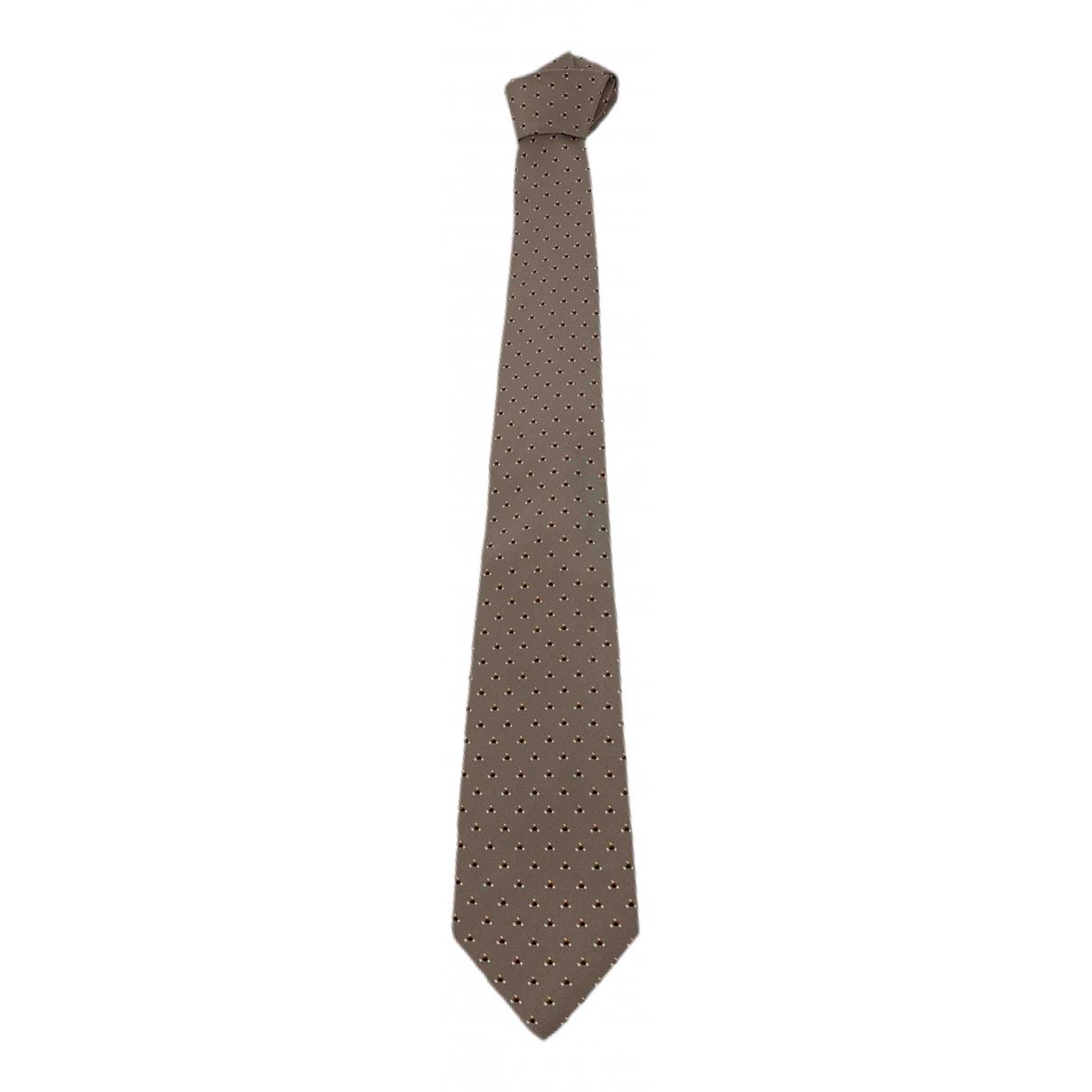 Lanvin \N Krawatten in  Beige Seide