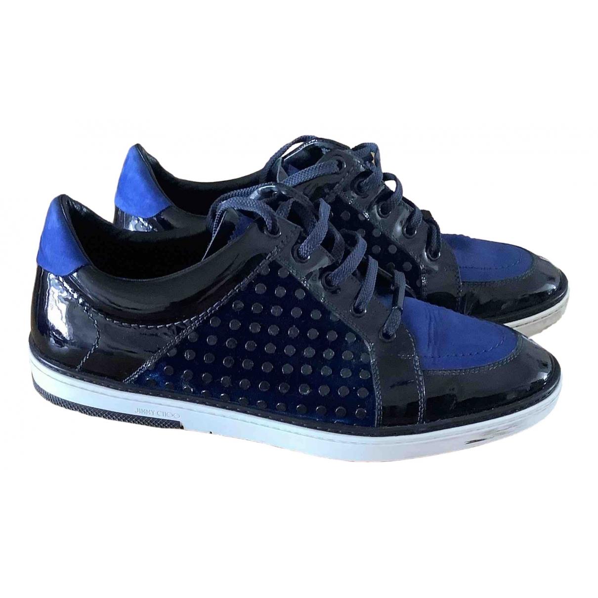 Jimmy Choo \N Sneakers in  Blau Lackleder