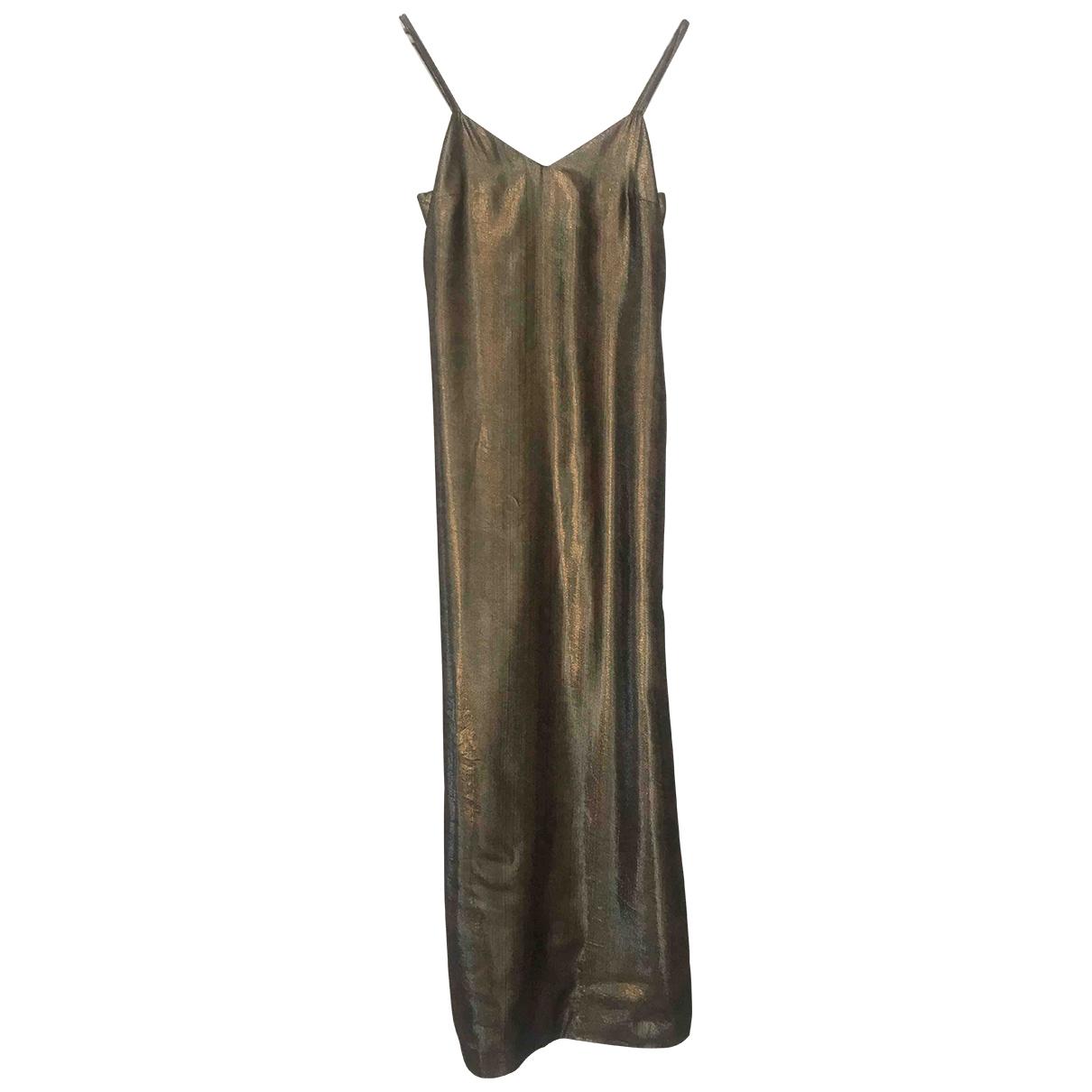 Versus \N Kleid in  Gold Seide