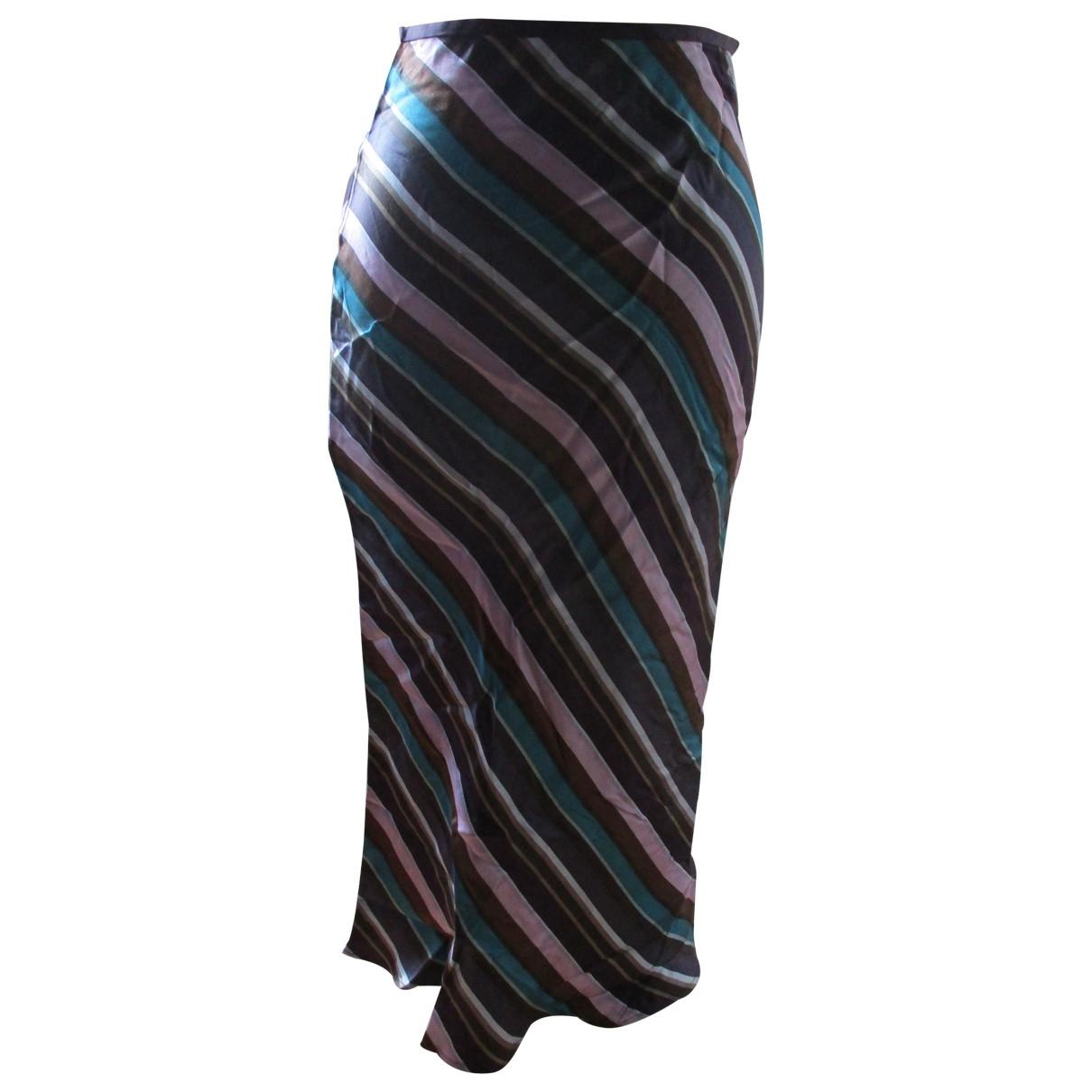 Zapa - Jupe   pour femme en soie - multicolore