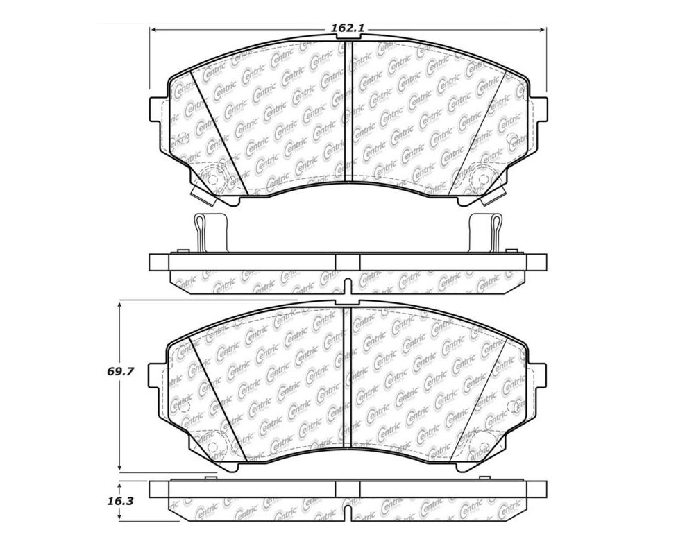 StopTech 104.1331 PosiQuiet Semi Met Pads Cadillac CTS Front 2008-2011 3.6L V6