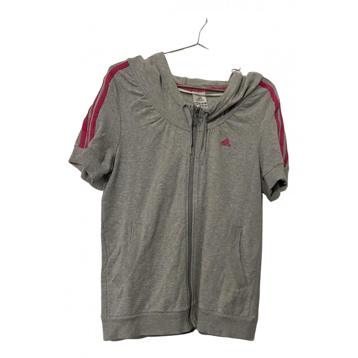 Adidas - Pull   pour femme en coton - gris