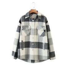 Schwarz und Weiss Taschen  Gingham Preppy Outerwear
