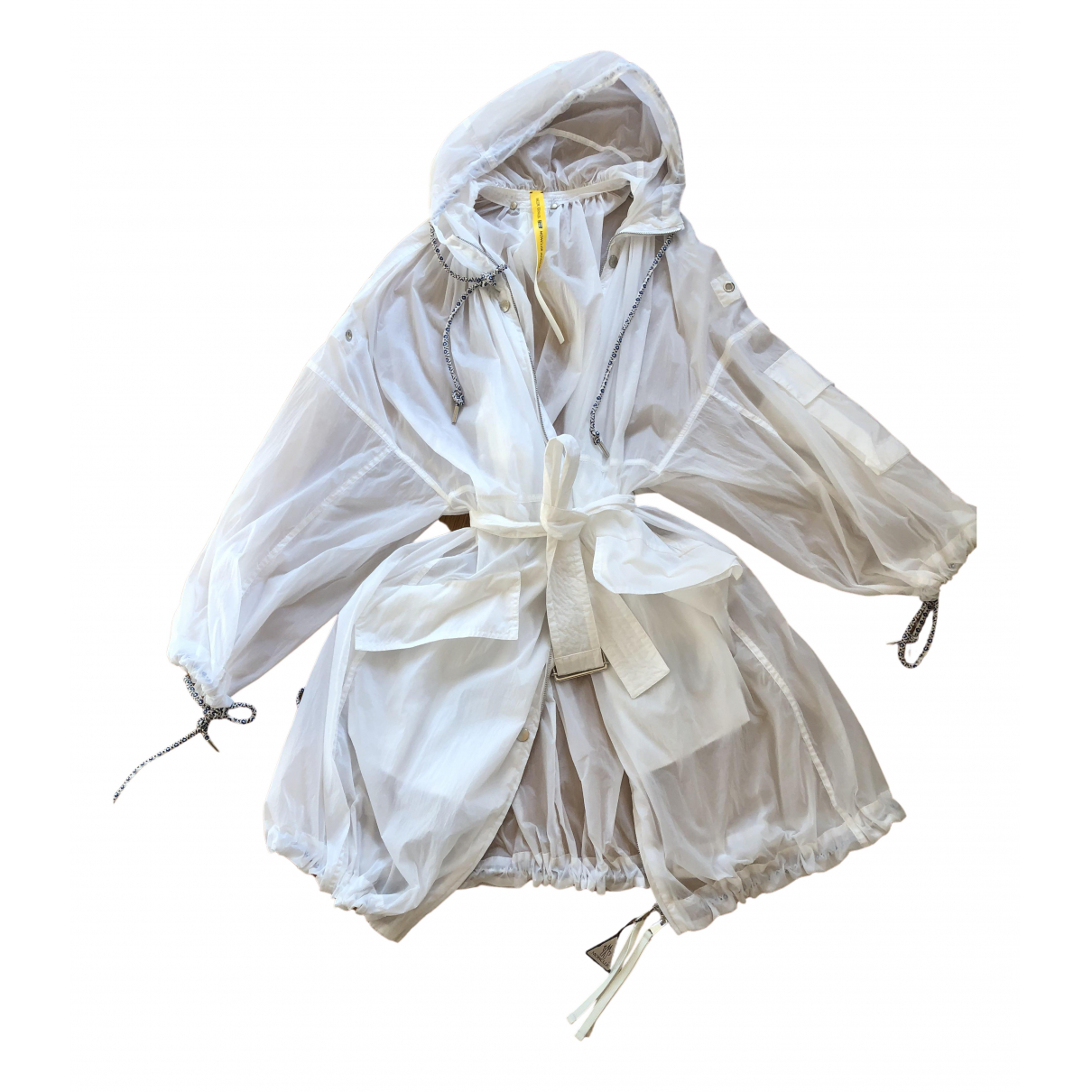 Moncler Genius Moncler n°2 1952 + Valextra Jacke in  Weiss Polyester