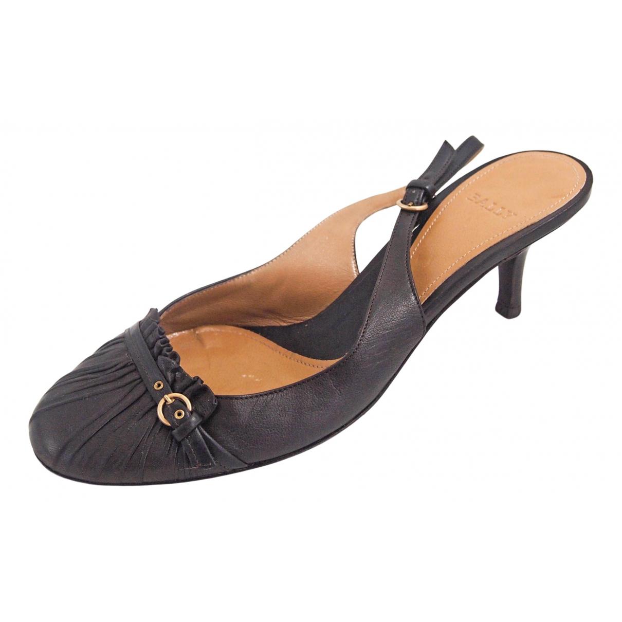 Bally - Sandales   pour femme en cuir - marron