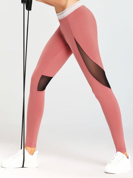 Milanoo Leggings For Women Soft Color Block Polyester Yoga Pants