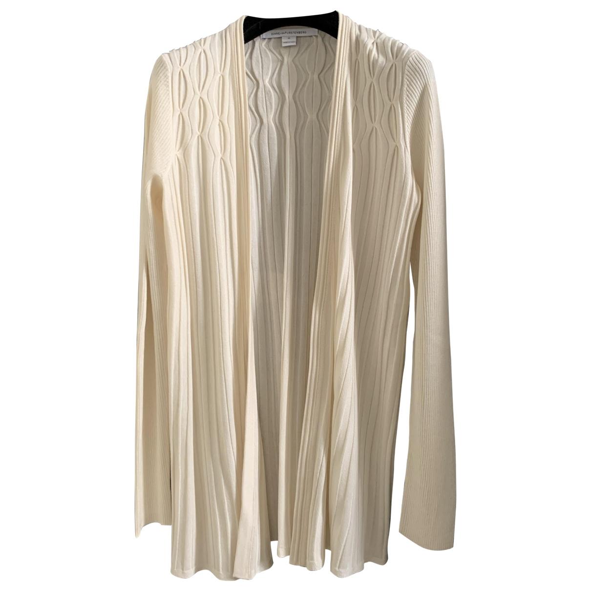 Diane Von Furstenberg \N Pullover in  Ecru Kaschmir