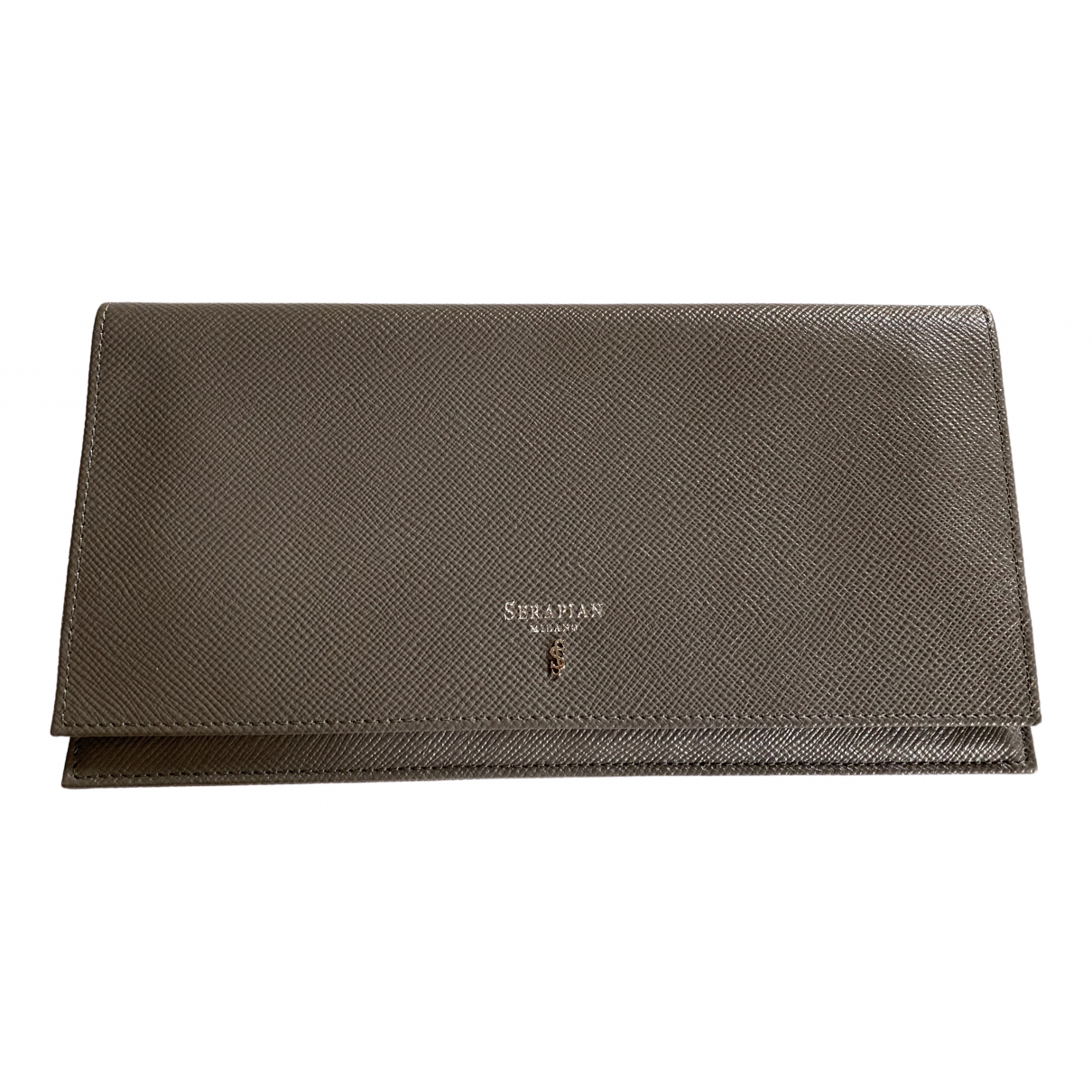 Non Signé / Unsigned \N Grey Leather Small bag, wallet & cases for Men \N