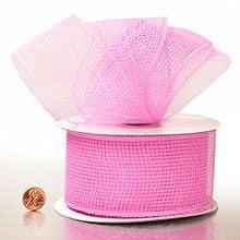 Bubblegum Pink Deco Mesh Ribbon - 2-1/2 X 20 Yards - Polypropylene / Cellophane - Wraps by Paper Mart