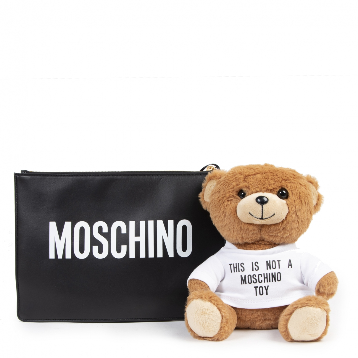 Moschino - Pochette   pour femme en cuir - noir