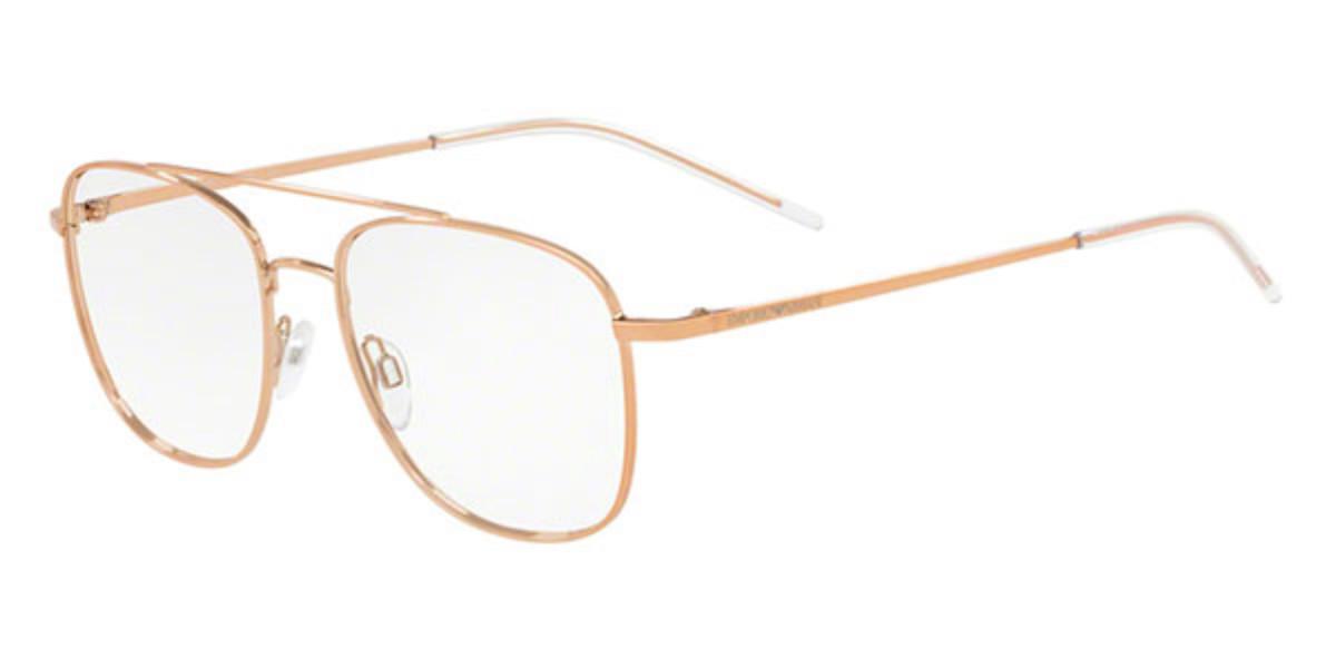 Emporio Armani EA1076 3219 Men's Glasses Brown Size 52 - Free Lenses - HSA/FSA Insurance - Blue Light Block Available