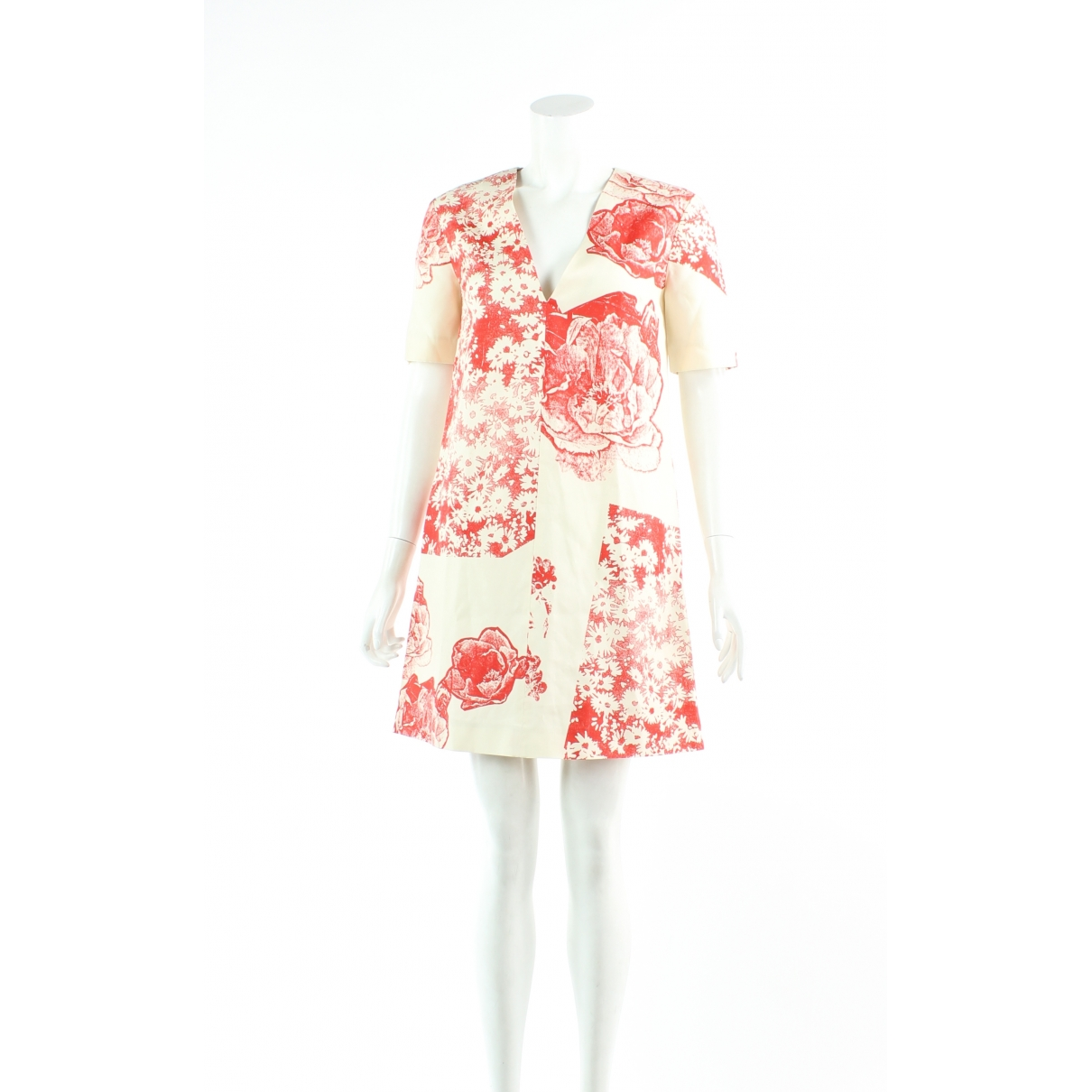 Stella Mccartney \N Orange Silk dress for Women 36 FR