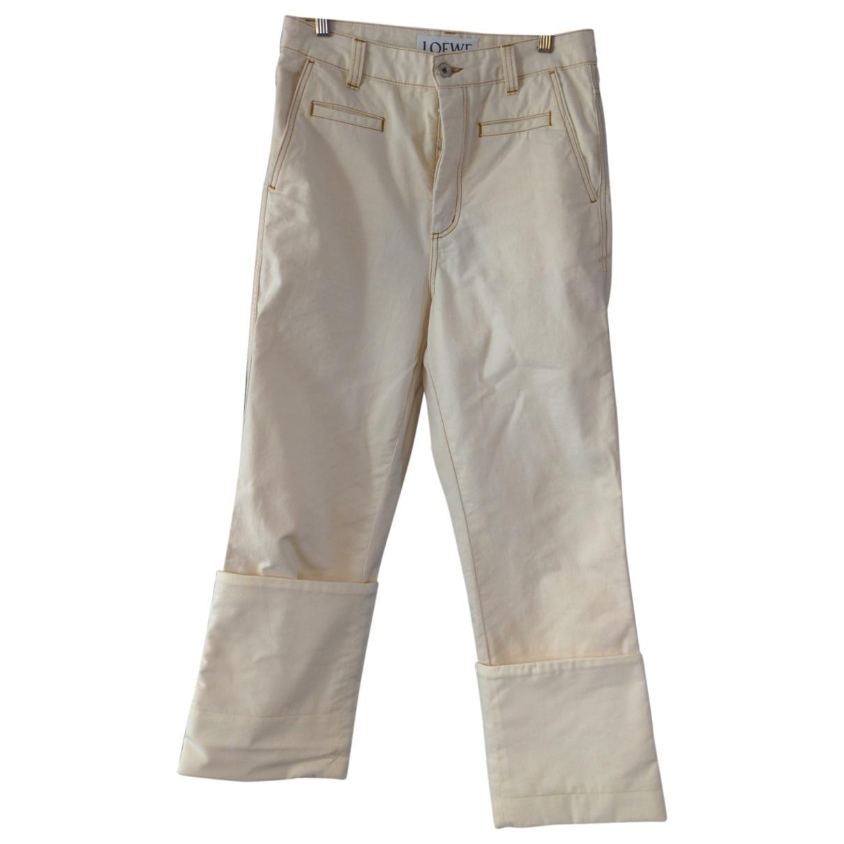 Loewe \N Beige Cotton Jeans for Men 38 FR