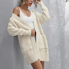 Cable Knit Dual Pocket Cardigan