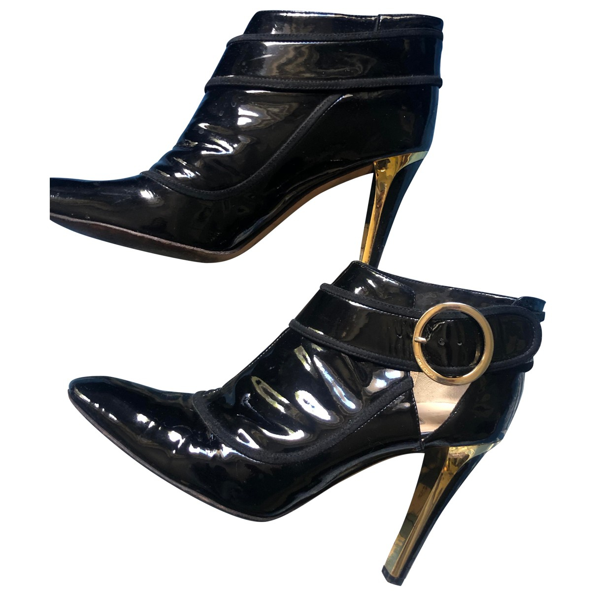 Jimmy Choo \N Black Patent leather Ankle boots for Women 39.5 IT