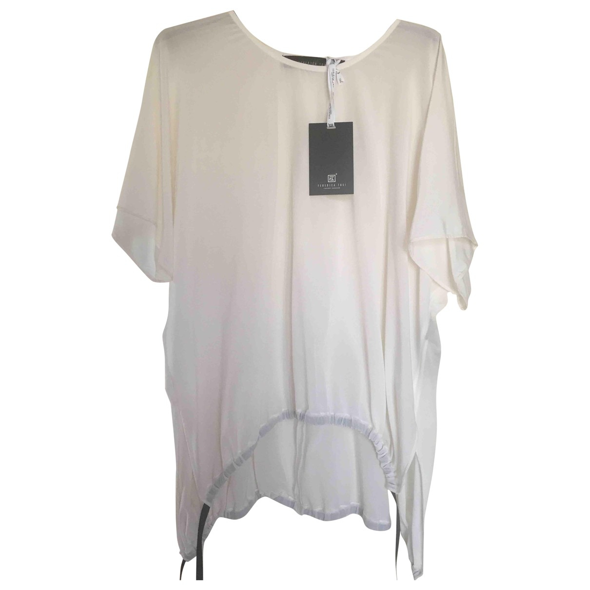 Federica Tosi - Top   pour femme en soie - blanc