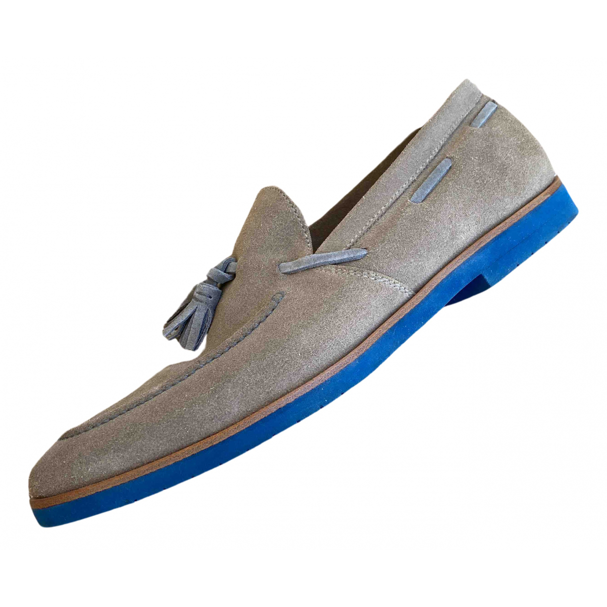 Fratelli Rossetti N Grey Suede Flats for Men 7.5 UK