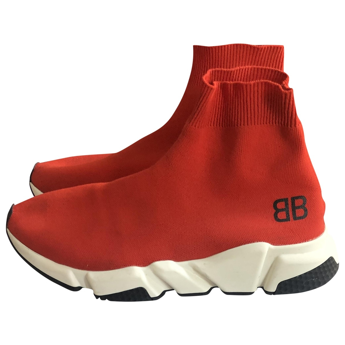 Balenciaga - Baskets Speed pour homme en toile - rouge