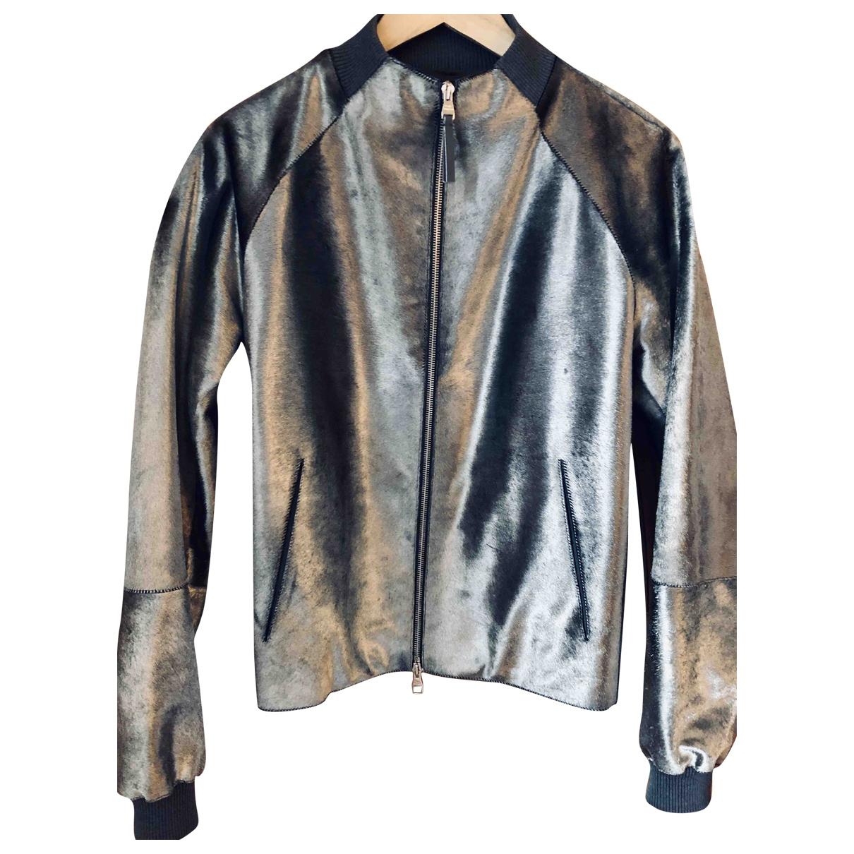 Louis Vuitton - Vestes.Blousons   pour homme en cuir - argente