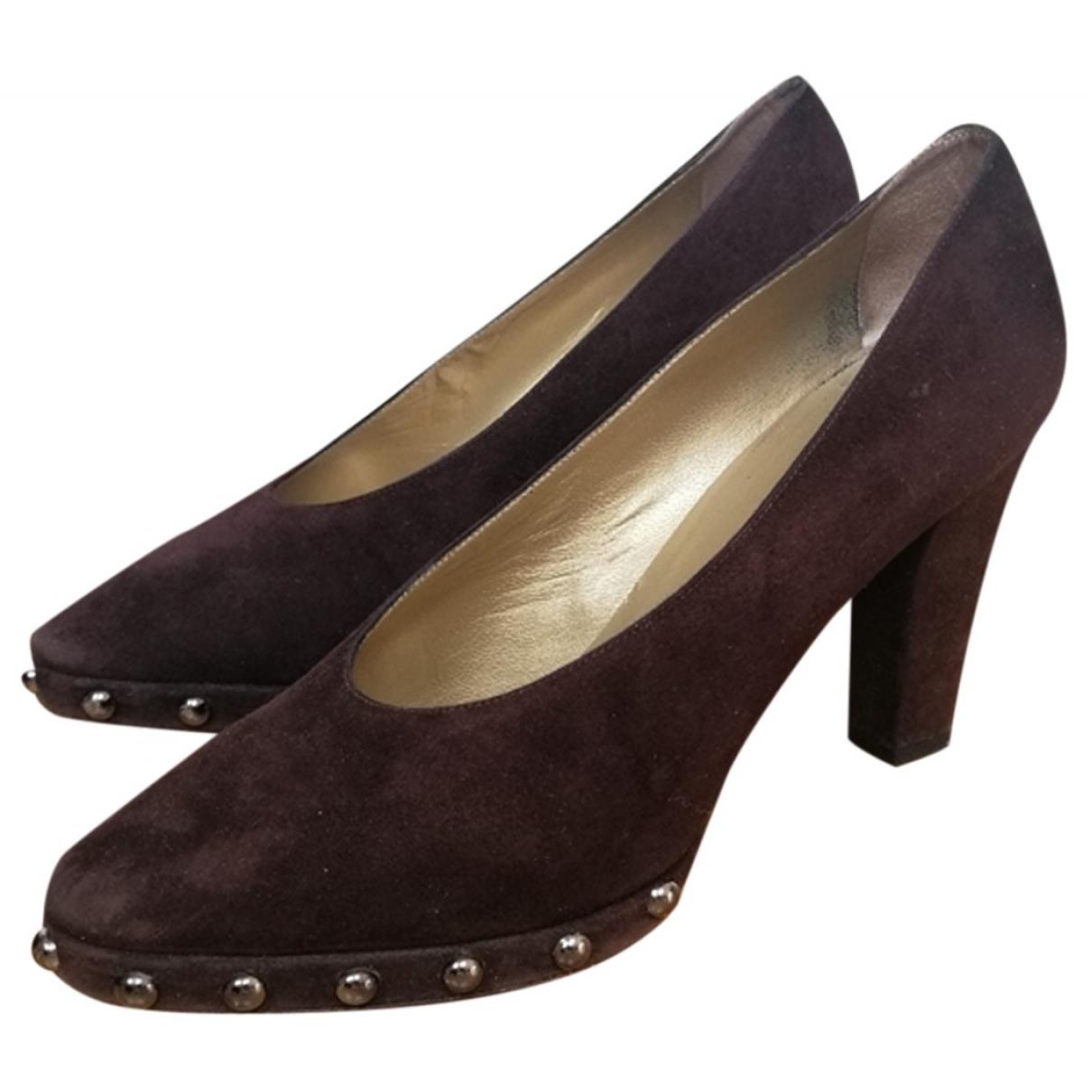 Yves Saint Laurent \N Brown Suede Heels for Women 8 US