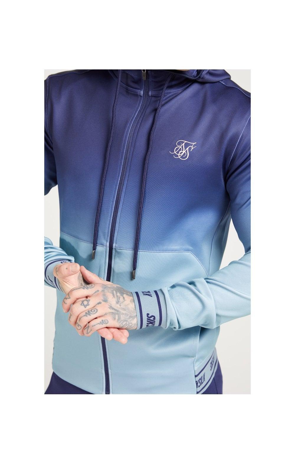SikSilk Agility Zip Through Hoodie - Urban Blue & Grey MEN SIZES T