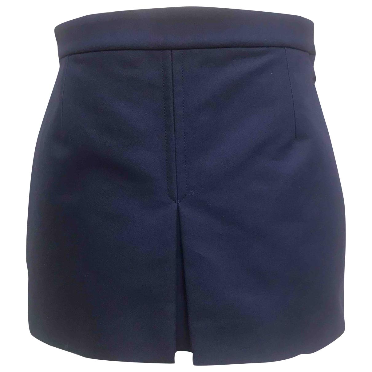 Balenciaga \N Blue Cotton skirt for Women 36 FR