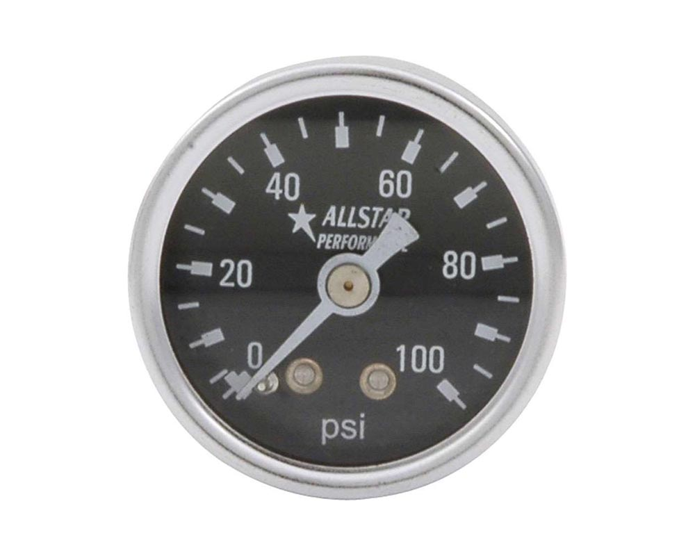 Allstar Performance ALL80216 1.5in Gauge 0-100 PSI Dry Type ALL80216
