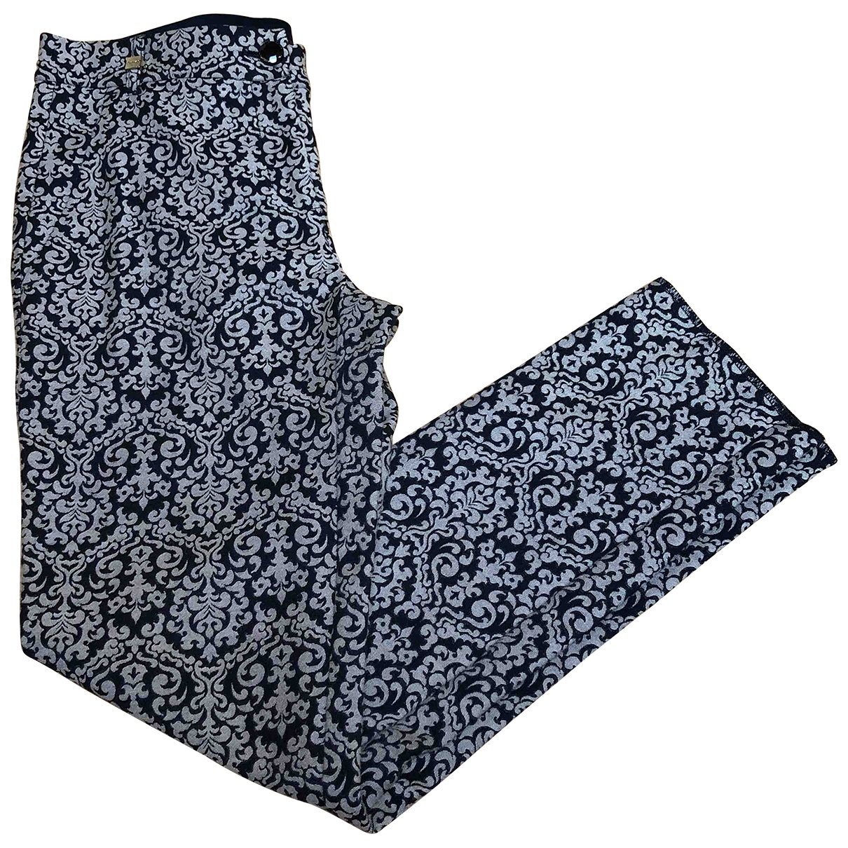 Pinko \N Grey Cotton Trousers for Women 38 IT