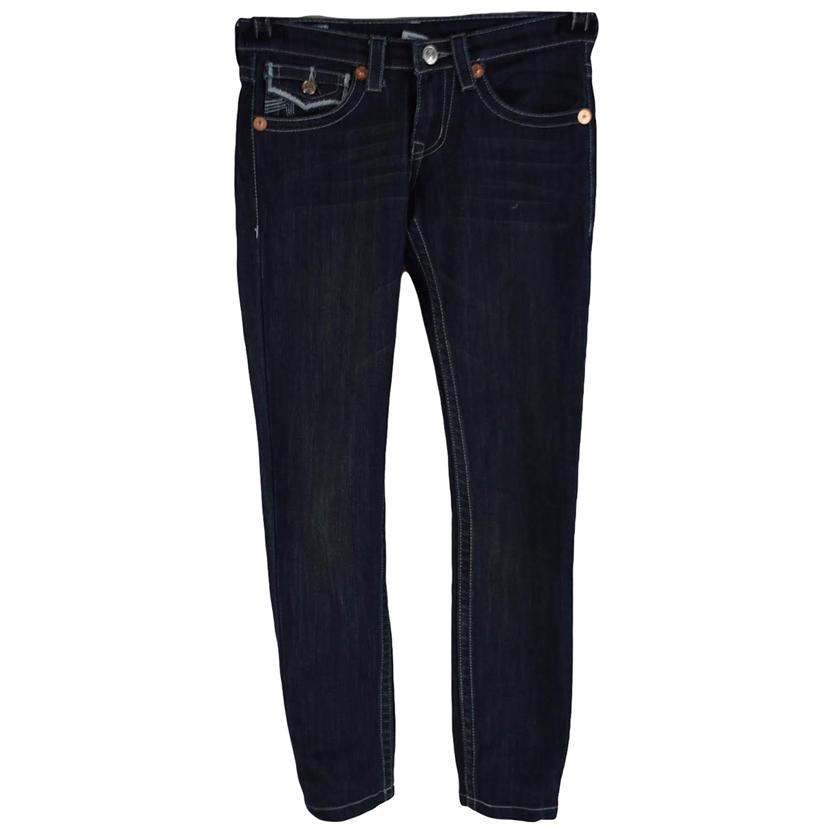 True Religion \N Blue Cotton - elasthane Jeans for Women 26 US