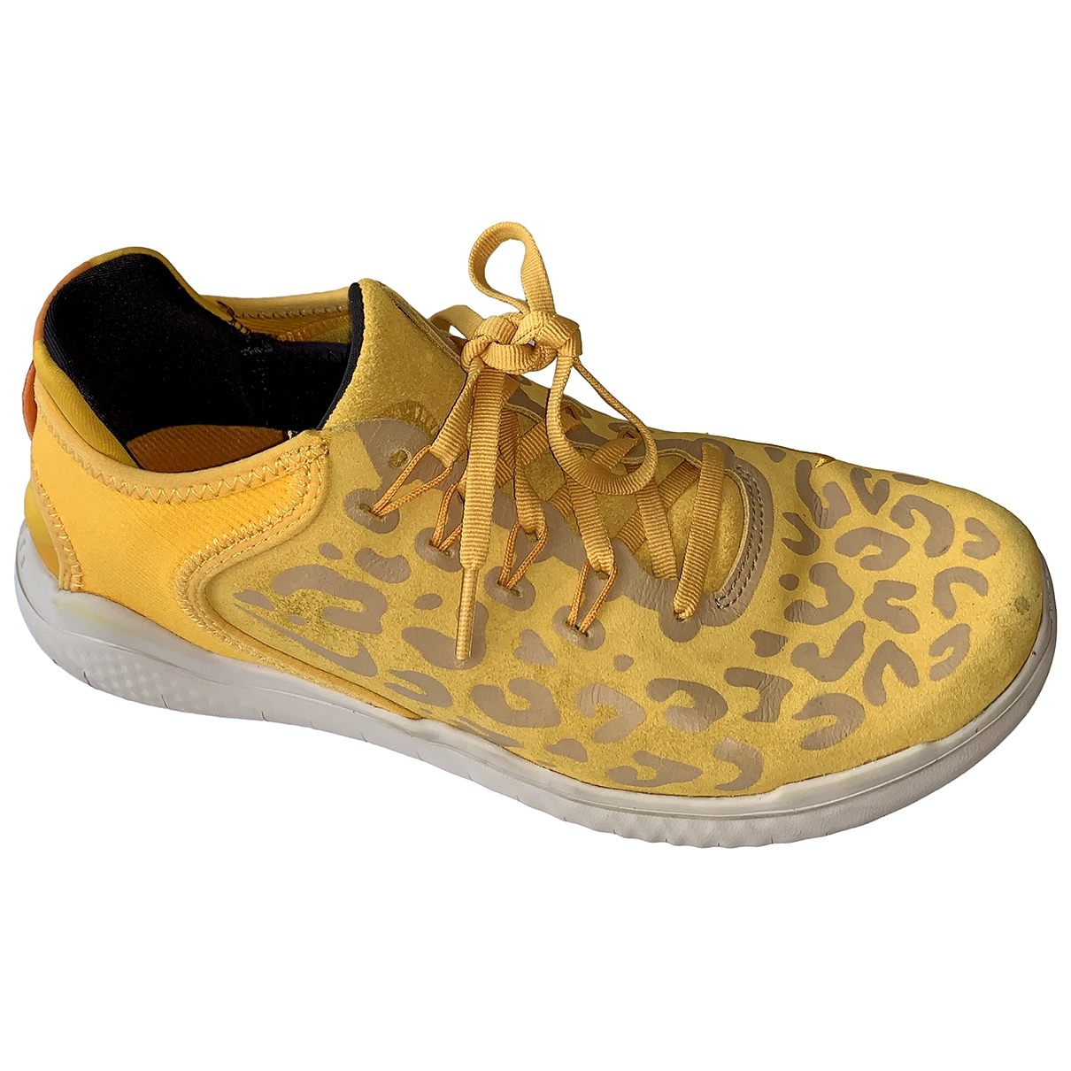 Nike Free Run Yellow Suede Trainers for Women 40 EU