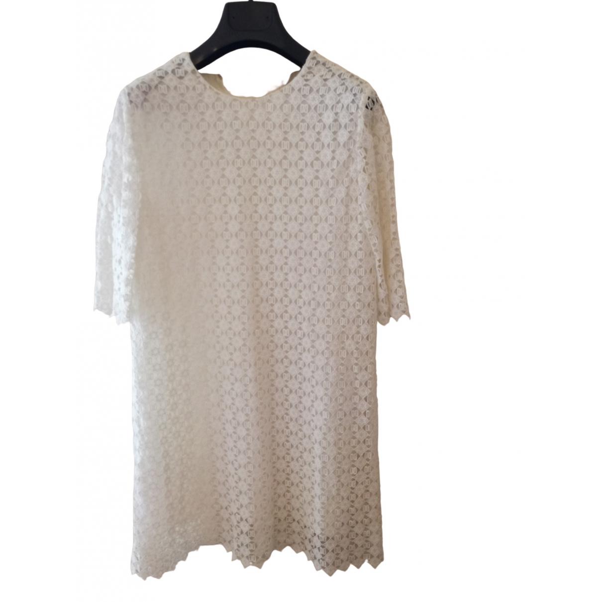 Daks \N Kleid in  Weiss Baumwolle