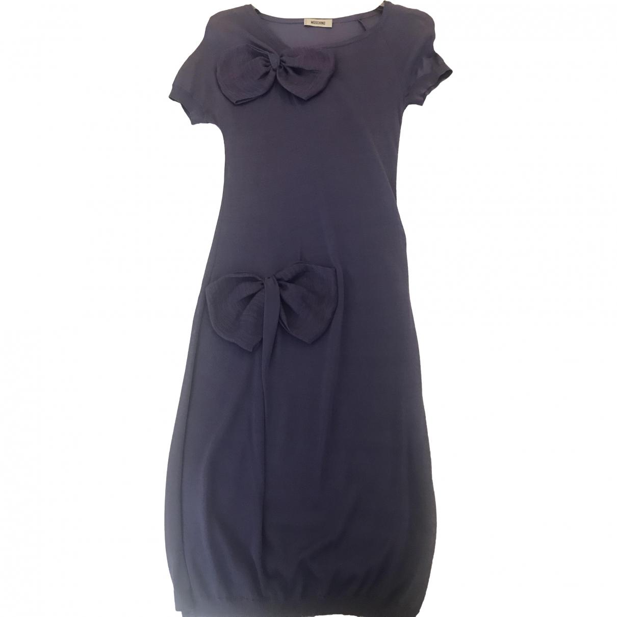 Moschino \N Purple Cotton dress for Women 38 IT