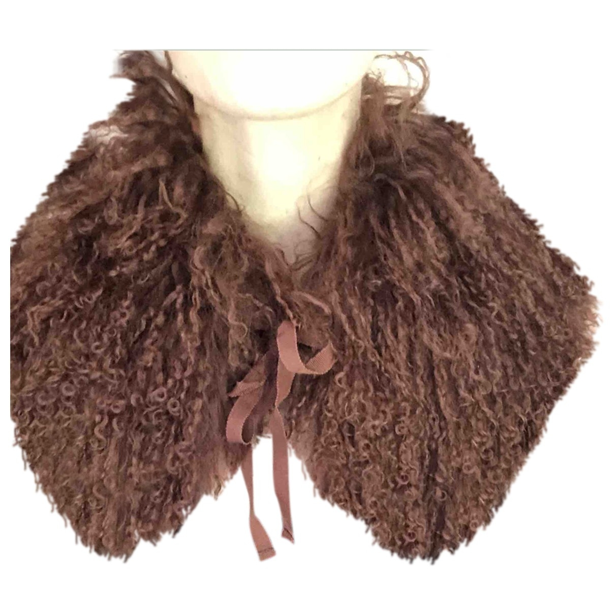 Comptoir Des Cotonniers \N Burgundy Mongolian Lamb scarf for Women \N