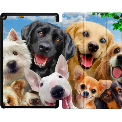 Amazon Fire HD 10 (2018) Tablet Smart Case - Dogs Selfie von Howard Robinson