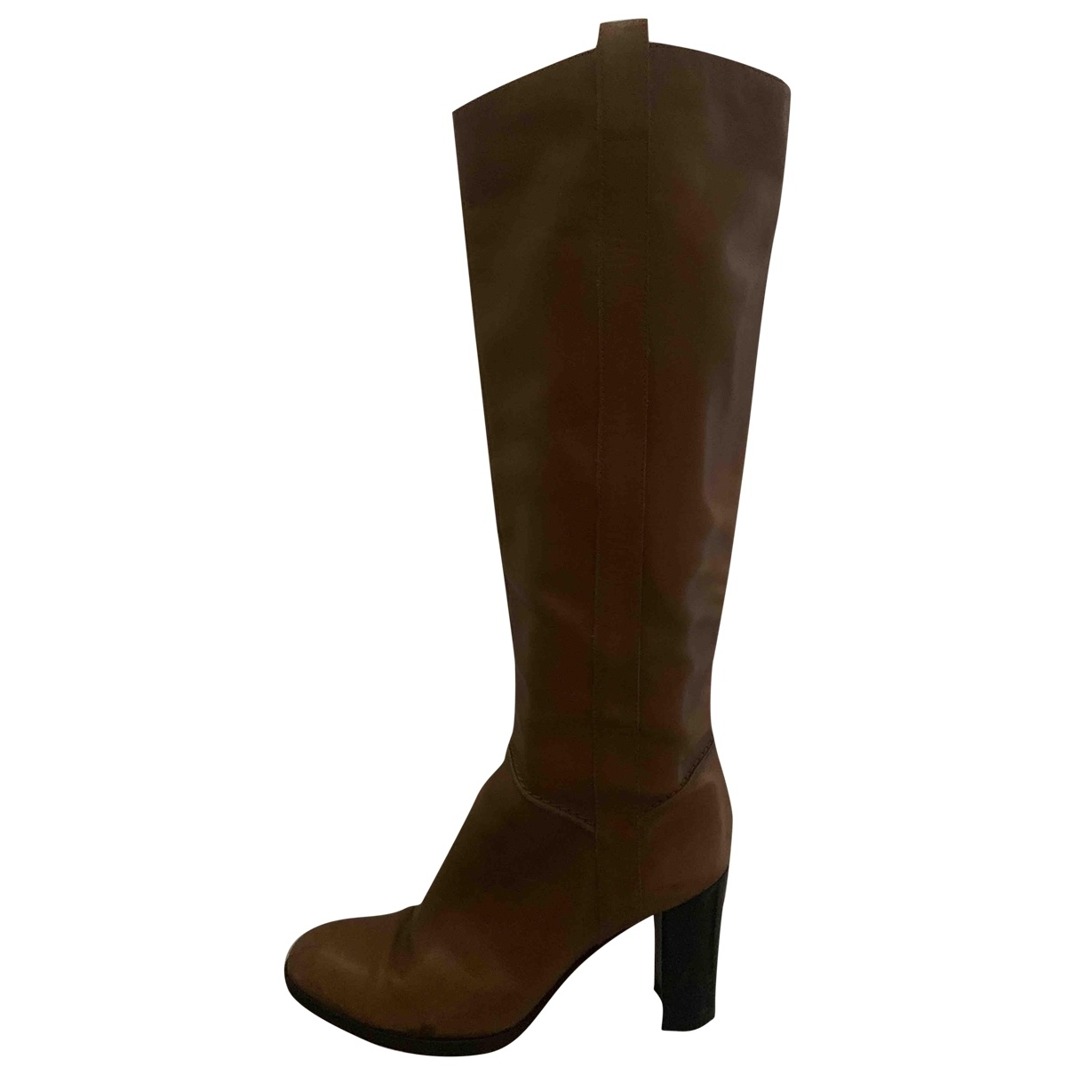 Sergio Rossi \N Brown Suede Boots for Women 37.5 EU