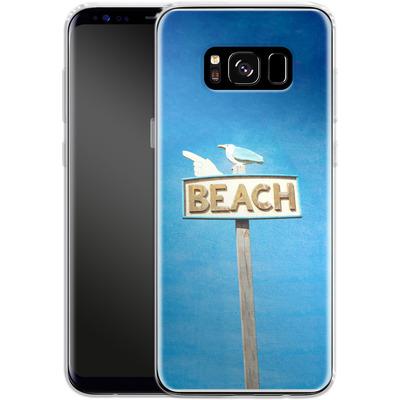 Samsung Galaxy S8 Silikon Handyhuelle - Beach von Joy StClaire